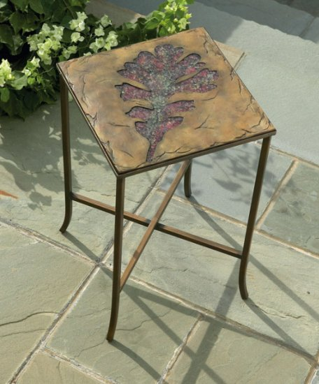 Amber Leaf Table