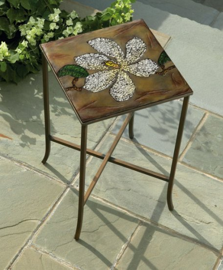 Crushed Glass Resin Plaque Table