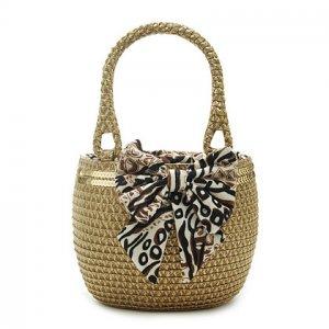 Paillette Coffee Straw Handbag BEACH BAG handmade tote