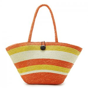 Orange Stripe STRAW ShoulderBag SUMMER HandBAG Tote