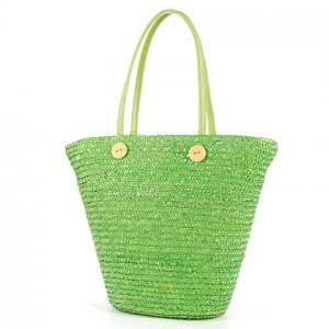 Green GARDEN COUNTRY STYLE Bag STRAW SHOULDERBAG HANDBAG TOTE