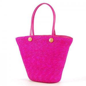 Pink GARDEN COUNTRY STYLE Bag STRAW SHOULDERBAG HANDBAG TOTE