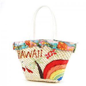 HAWAII Rainbow STRAW BAG SHOULDERBAG TOTE HANDBAG