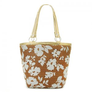 Summer Flower STRAW BAG TOTE HANDBAG SHOULDERBAG