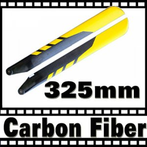 RC Helicopter Carbon Fiber 325mm Blade for Align Trex 450 Free Shipping