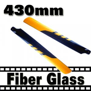 RC Helicopter Glass Fiber 430mm Blade for Trex 500  Free Shipping