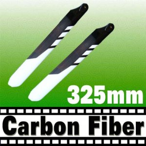 RC Helicopter Carbon Fiber 325mm White Black Blade for Trex 450 Free Shipping