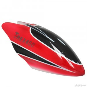 RC Helicopter Fiber Glass Canopy Accessory Red Black for Align Trex 450