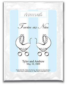 Twice as Nice-Stripes-Blue-Twins