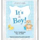 It's a Boy-Gingham-Blue