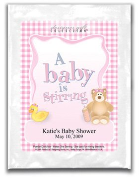 A Baby Is Stirring-Gingham-Pink
