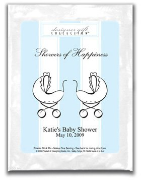 Showers Of Happiness-Stripes-Blue-Twins