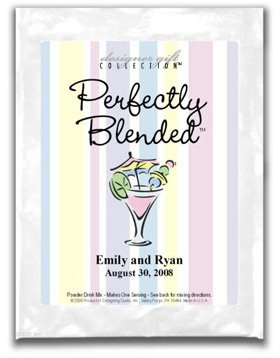 Perfectly Blended-Pastel Stripes-Cocktail Glass