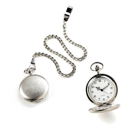 Silver Brushed Pocket Watch