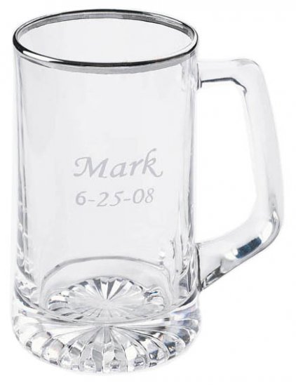 25 oz. Silver Rimmed Sports Mug