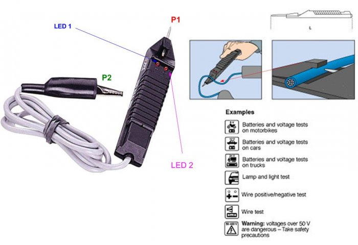 Probe Style Auto Electronic circuit Tester (1705)