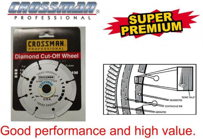 "CROSSMAN Silver 4"" Diamond Cutting Wheel Blade"