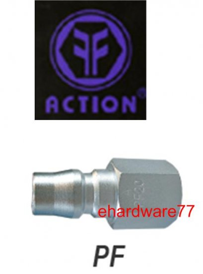 "ACTION Taiwan Pneumatic Quick Coupler 20PF 1/4"" Female Thread"