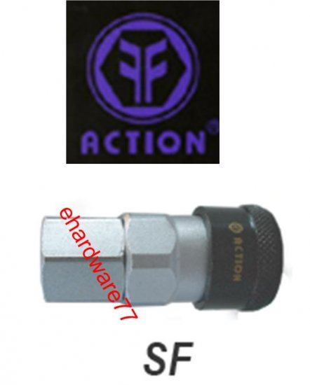 "ACTION Taiwan Pneumatic Quick Coupler 20SF 1/4"" PT Female"