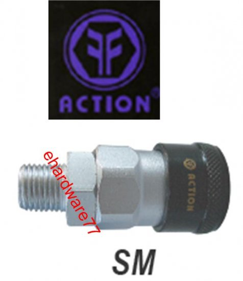 "ACTION Taiwan Pneumatic Quick Coupler 20SM 1/4"" PT Male"