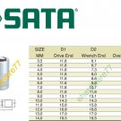 "SATA - 13mm (Metric) Socket 1/4"" DR."