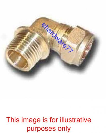 "Plumbing Copper Pipe Fitting - Male Elbow 22mm x 3/4"" BSP"