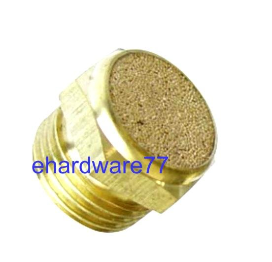 "Brass Flat Silencer 1/4"" Thread"