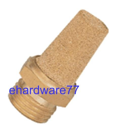 "Brass Straight Silencer 3/8"" Thread"