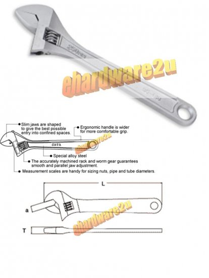 "SATA - 4"" Mini Adjustable Wrench"