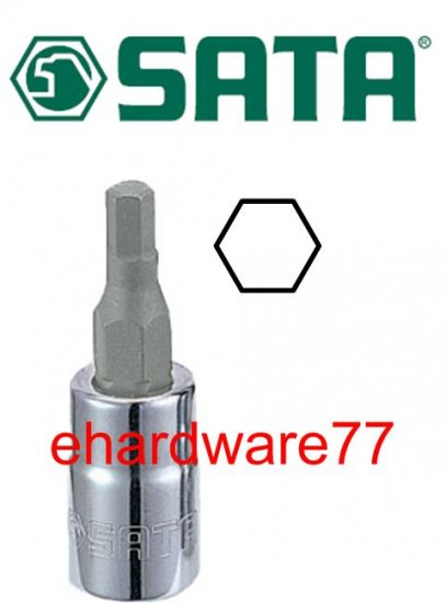 "SATA - 1/4"" DR. Hex Bit Socket 3mm (21201)"