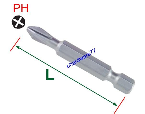 "1/4"" Shank Philip Bit PH2 x 75mmL"