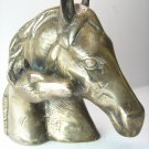 Antique Vintage Solid Brass Horse Head Paperweight Bookends