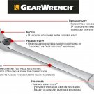 Grearwrench - XL Locking Flex Combination Ratcheting Wrench 11/16""