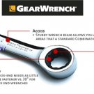 Grearwrench - Stubby Combination Ratcheting Wrench 1/4""