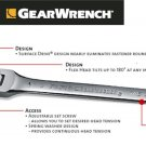 Grearwrench - Flex Combination Ratcheting Wrench 17mm