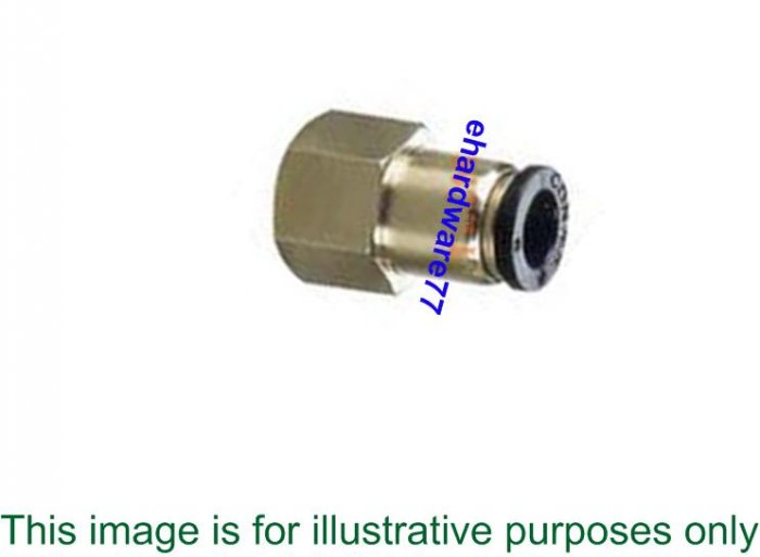 Push-in Female Straight Connector 8mmODx3/8""