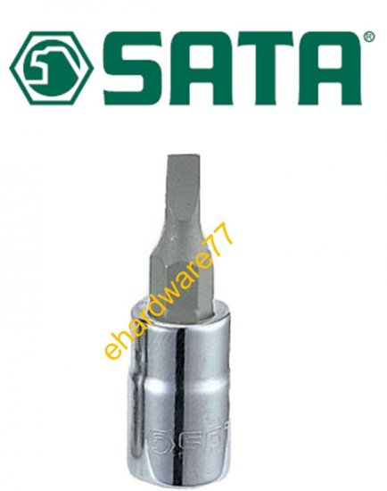 "SATA - 1/4"" DR. Slotted Bit Socket 4mm (21501)"