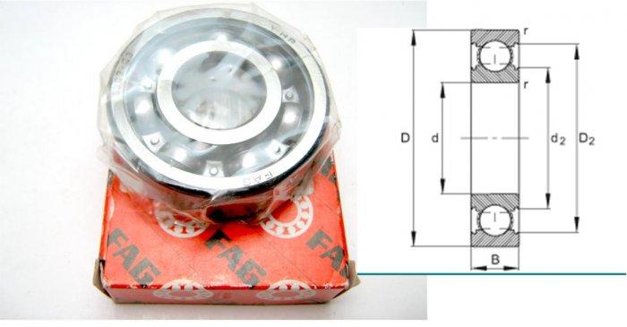 FAG - Deep Groove Ball Bearing 6300.C3