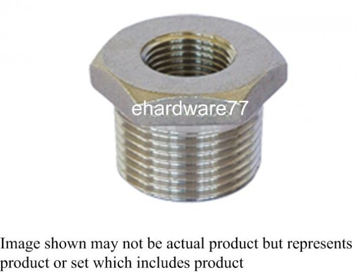 "Stainless Steel Bush 3/4""M x 1/2""F"