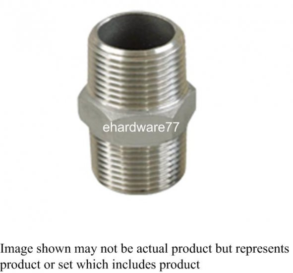 "Stainless Steel Nipple 1/2""M x 1/2""M"