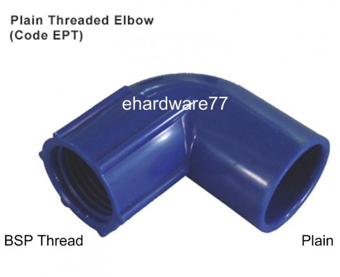"""ABS PT Elbow 1/2""""F x 15mm (1/2"""") Pipe"""