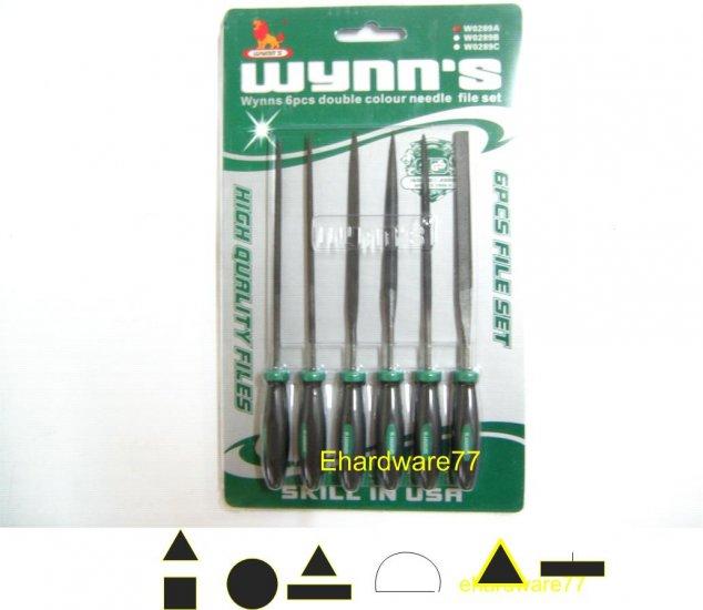6pcs Needle File Set 3mmx140mmL