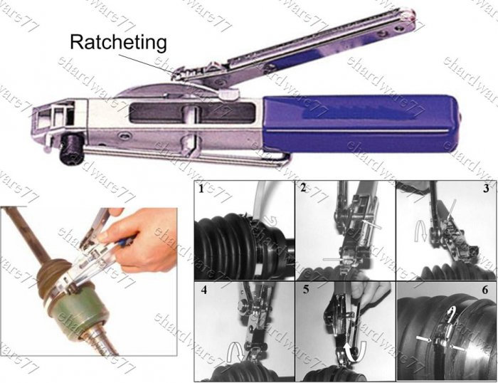 cv boot ratchet clamp banding tool  1503