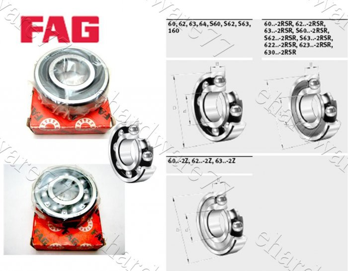 FAG Bearing 6305-2Z (25x62x17mm)