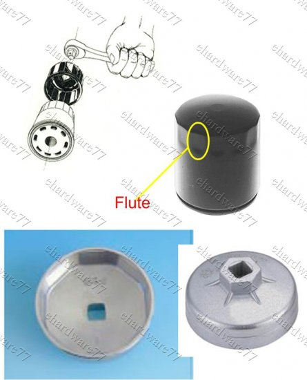 Oil Filter Cap wrench Size: 73mm P-14 Toyota Hilux, Lexus, Nissan