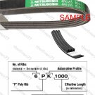 MITSUBOSHI V-Ribbed Drive Belt 6PK890