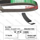 MITSUBOSHI V-Ribbed Drive Belt 6PK1500