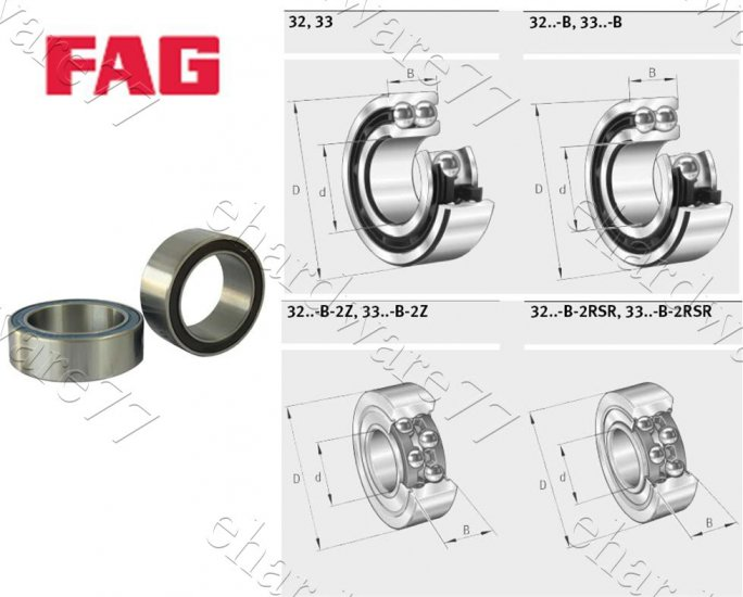 FAG Bearing 3308-B-2RSR-TVH