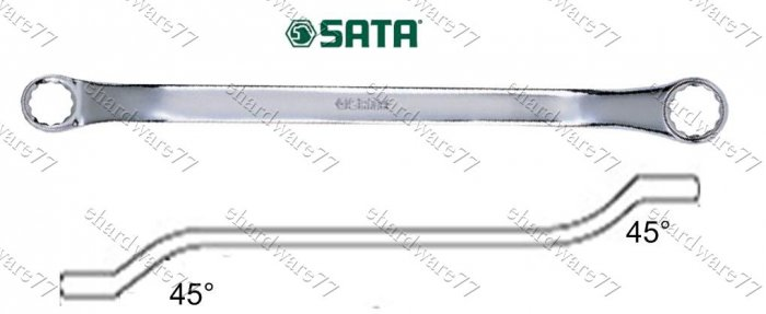"SATA DOUBLE BOX END WRENCH 1/2""""x9/16"""" (42102)"