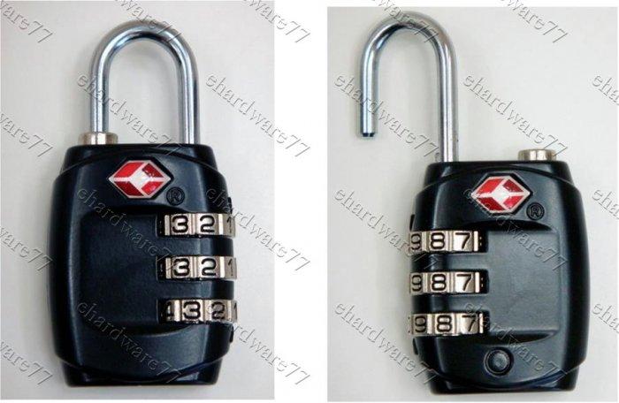 TSA 3 Dial Combination Luggage Padlock (TSA331)